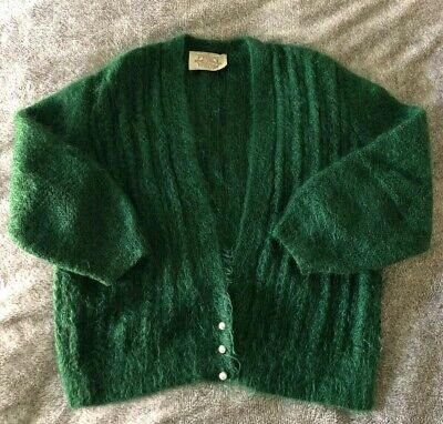 Vintage Mohair Cardigan with Pearl Buttons