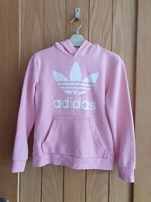 Girls Adidas Hoodie Age 7/8 (baby pink ) hardly used