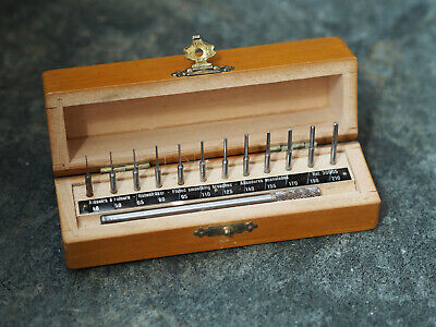 Vintage Bergeon 30005 Professional Watchmakers fluted smoothing broaches set