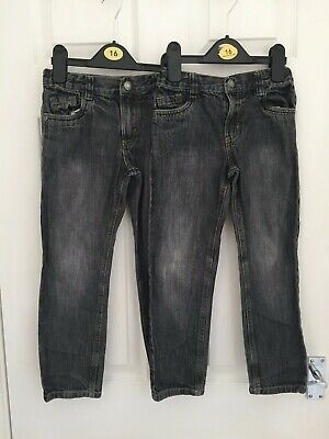 x2 Pairs of Denim & Co Boys Black Faded Straight Leg Jeans Size 6-7 years