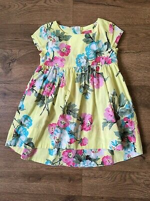 Girls Joules Dress Floral Yellow Country Style Age 3 Years VGC