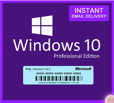Windows 10 pro key 32/64 bit Genuine License Key Product Code Instant Delivery🔑