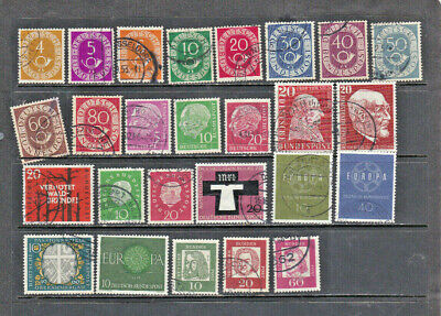 Germany 1951- 62, all used, good cat. val.