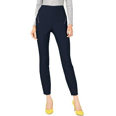 INC Womens Blue Zip-Pocket Ankle Office Wear Skinny Pants 16 BHFO 9260