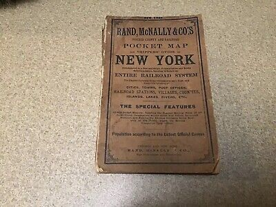 1904 Rand McNally & Co's. Pocket Map Shippers Guide New York Entire Railroad