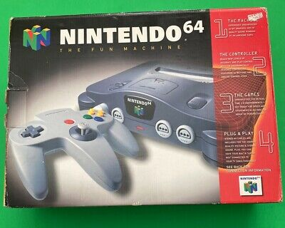 Nintendo 64 Launch Edition Charcoal Grey Console In Box