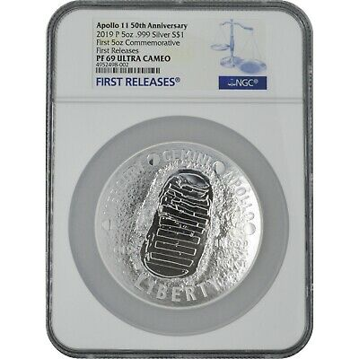 2019 Apollo 50th Anniv 5 Oz Proof Silver Coin NGC PF69 First Releases SKU-FRWC
