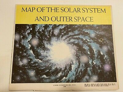 "Vintage Map of the solar system and outer space 1960 Print HUGE MAP 35"" X 48"""