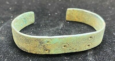 Authentic Ancient Lake Ladoga VIKING Artifact > Bronze Bracelet  VW21
