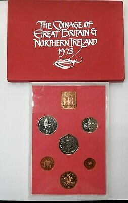 1973 Coinage of Great Britain and Northern Ireland Proof Coin Set - Untarnished