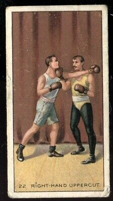 Tobacco Card, Carreras Back, THE SCIENCE OF BOXING, 1914,Right Hand Uppercut,#22
