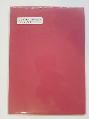 Rose Red A5 card bases x 10 (Stampin' up! retired colour)