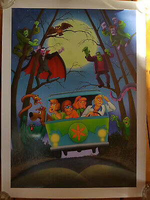 "One ""Scooby Doo"" poster by Hanna Barbera - ""The Long And Haunted Road."" - 2004"