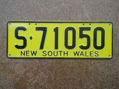 License plate Number plate NSW TRAILER