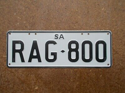 """License plate Number plate S/AUST WORD PLATE """"RAG"""""""