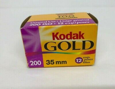 Kodak Gold 200 Kodakcolor Film 35mm 12 Exposures Sealed Expired July 2002 ASIS