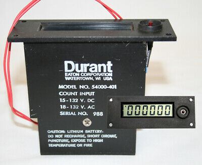 Durant Digital Counter 54000-401 54000401 **WITH NEW 5 YEAR LITHIUM BATTERY **
