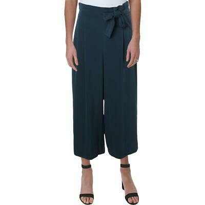 Anne Klein Womens Blue Belted Cropped Business Dress Pants Trousers L BHFO 9734