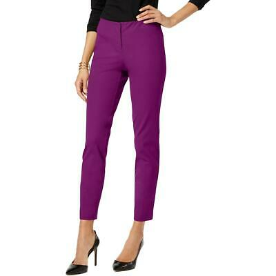Alfani Womens Pink Skinny Ankle Office Wear Dress Pants Trousers 12 BHFO 6699