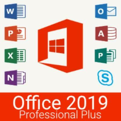 Microsoft Office 2019 Professional Plus Product Key - Works Worldwide