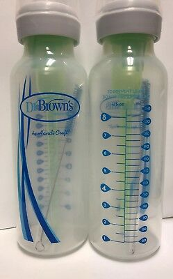 Dr. Brown's Options Baby Bottles, 2 Pack, clear, 8 ounce Used