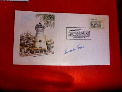 Fmr Premier Of Qld Russell Cooper  Hand Signed Anpex 82 Brisbane  Fdc