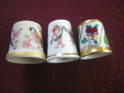 Collectables  Thimbles x 3, incl Ibis Aveiro, Royal Worcester, Royal Crown Derby