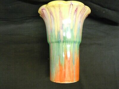 Clarice Cliff  large rare really nice  Delicia vase  good condition.