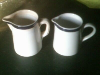 Two Small Antique Jugs, 1930s Art Deco, By Pearl Pottery Company Hanley England