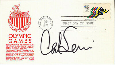 CARL LEWIS hand signed 1972 Olympic Games FDC first day cover autographed