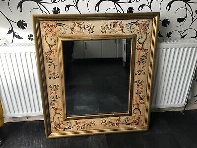 """Large Arts And Crafts Mirror 33"""" X 37"""" High"""