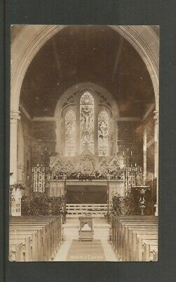 Hordle Church Interior, Hampshire  Postcard Used 1905 With Hordle Postmark