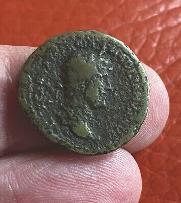 Roman Hadrian Denarius Struck In Brass  Very Interested Contemporary Forgery