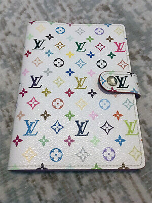 Louis Vuitton Agenda PM White/Pink Multicolor R21074 Rare/Discontinued Color