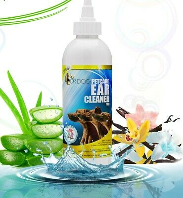 Pro Dog Ear Cleaner drops,Itching,Mites,Wax,Odour, care for dogs 230ml  -UK MADE