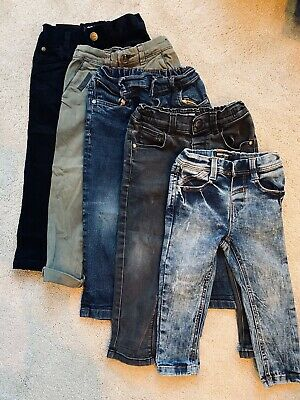 Next Boys Infants 2-3 Years Jeans Chinos Cords Job Lot Bundle 5 X Skinny Slim