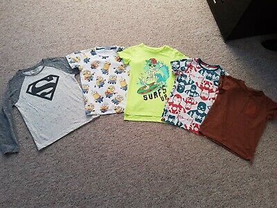 Boys T-shirt Bundle From Next.inc superman and minion age 5-6 Year's