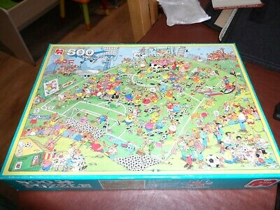 500 Piece Comedy Fotball Jigsaw Complete And Vgc