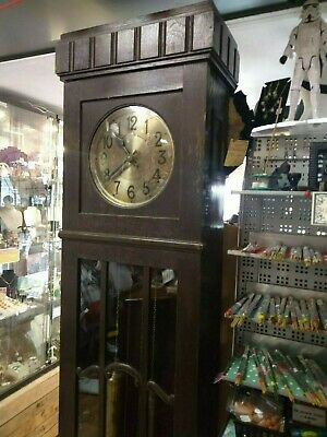 Amazing shape and design Art Deco grandfather clock weight driven used everyday