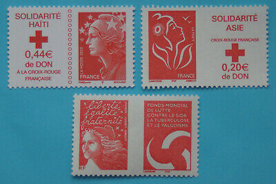 "3 Timbres neufs pour lettre prioritaire 20g "" Marianne "" - FRANCE"