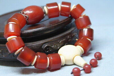 Decoration Agate Polishing Natural Dark Brown Beads Beautiful Rare Hand Catenary