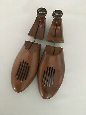 VTG Wooden Shoe Trees Shoe Stretchers Keepers #84 French Shriners ??