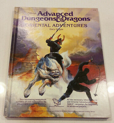 Oriental Adventures Advanced Dungeons & Dragons Hardcover Book AD&D D&D