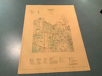 Vintage 1974 West Alger County Michigan DNR Highway & Recreation Information Map