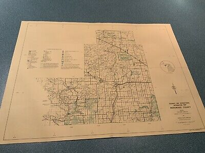 1974 North - Menominee County Michigan  DNR Highway & Recreation Information Map
