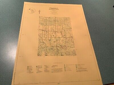 1974 Southeast Ontonagon County Michigan DNR Highway  Recreation Information Map