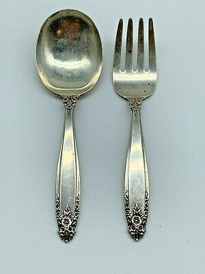 Prelude Child's Baby International Sterling Silver Fork And Spoon