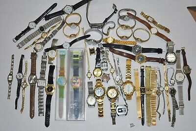 "LOT OF VINTAGE WATCHES Mido Esquire Omega Gruen ELGIN Timex 14k diamond ""AS IS"""