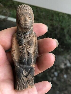 Ancient Pre Columbian Mayan? Looks Egyptian?? Detailed  Figure
