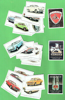 #D17.   Holden Motorcar Collector Card Sets, All 21 Cards, All 3 Issues